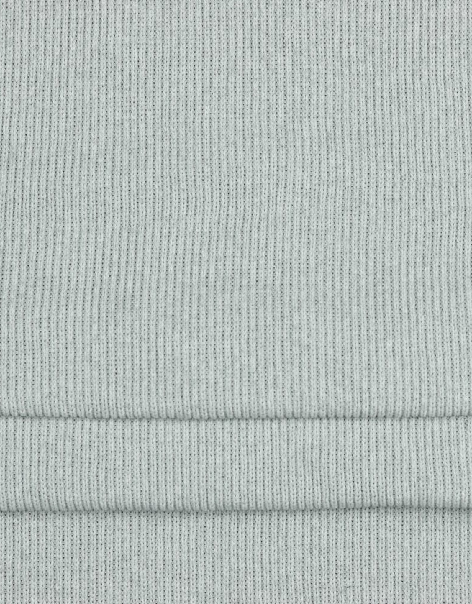 Recycled cotton knit licht grijs
