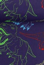 Softshell dino's donkerblauw
