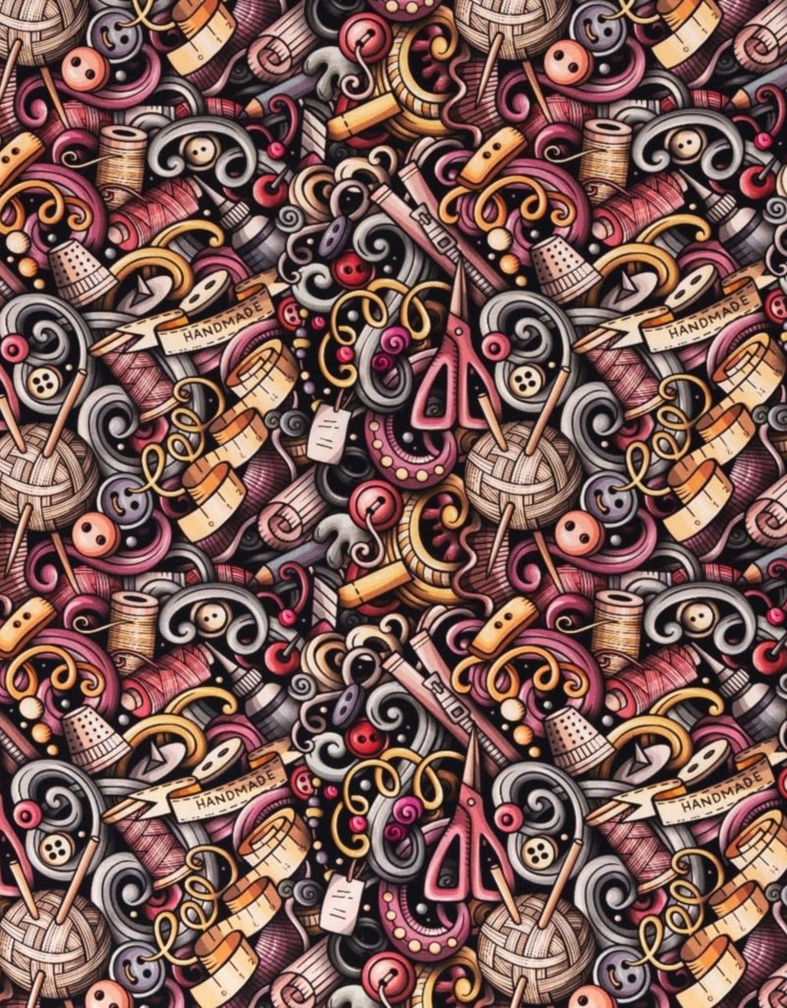 Katoen naaien oud roze