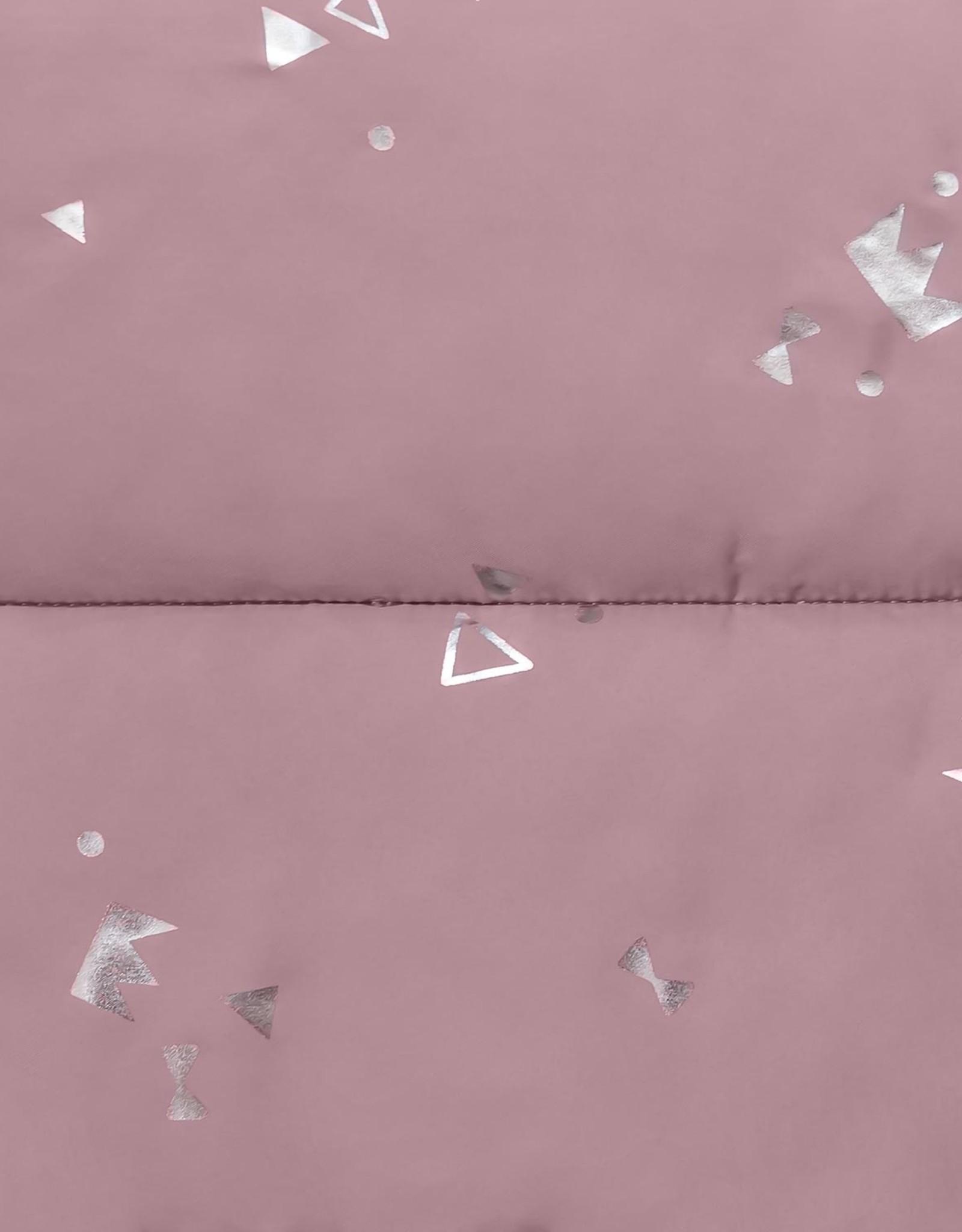 Katia Padded silver print pink