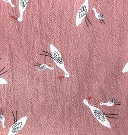Katia Rustic cotton Salinas birds pink