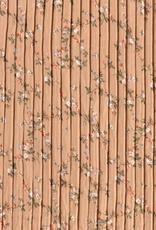 Chiffon bloemen bruin