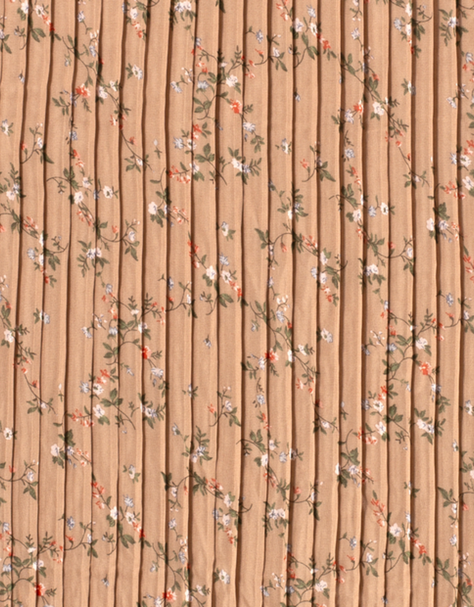 Plissé bloemen bruin