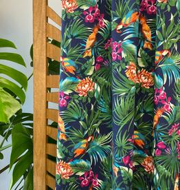 Atelier Jupe Tropische papegaaien katoen stretch