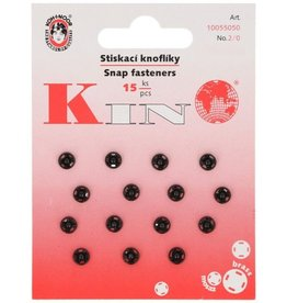 Aannaaidrukknopen 5mm zwart 15 st