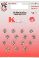 Aannaaidrukknopen 6mm nikkel 15st