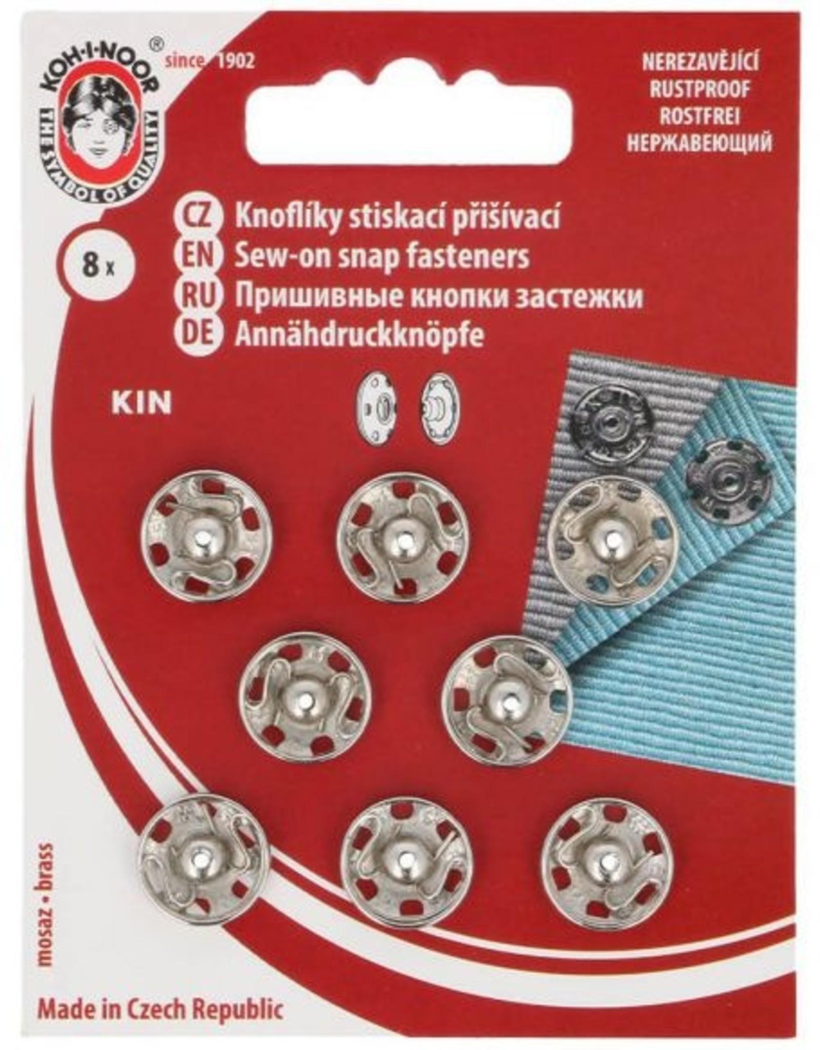 Aannaaidrukknopen 12mm nikkel 8 st