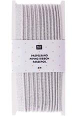 Rico Design Paspelband zilver 3m