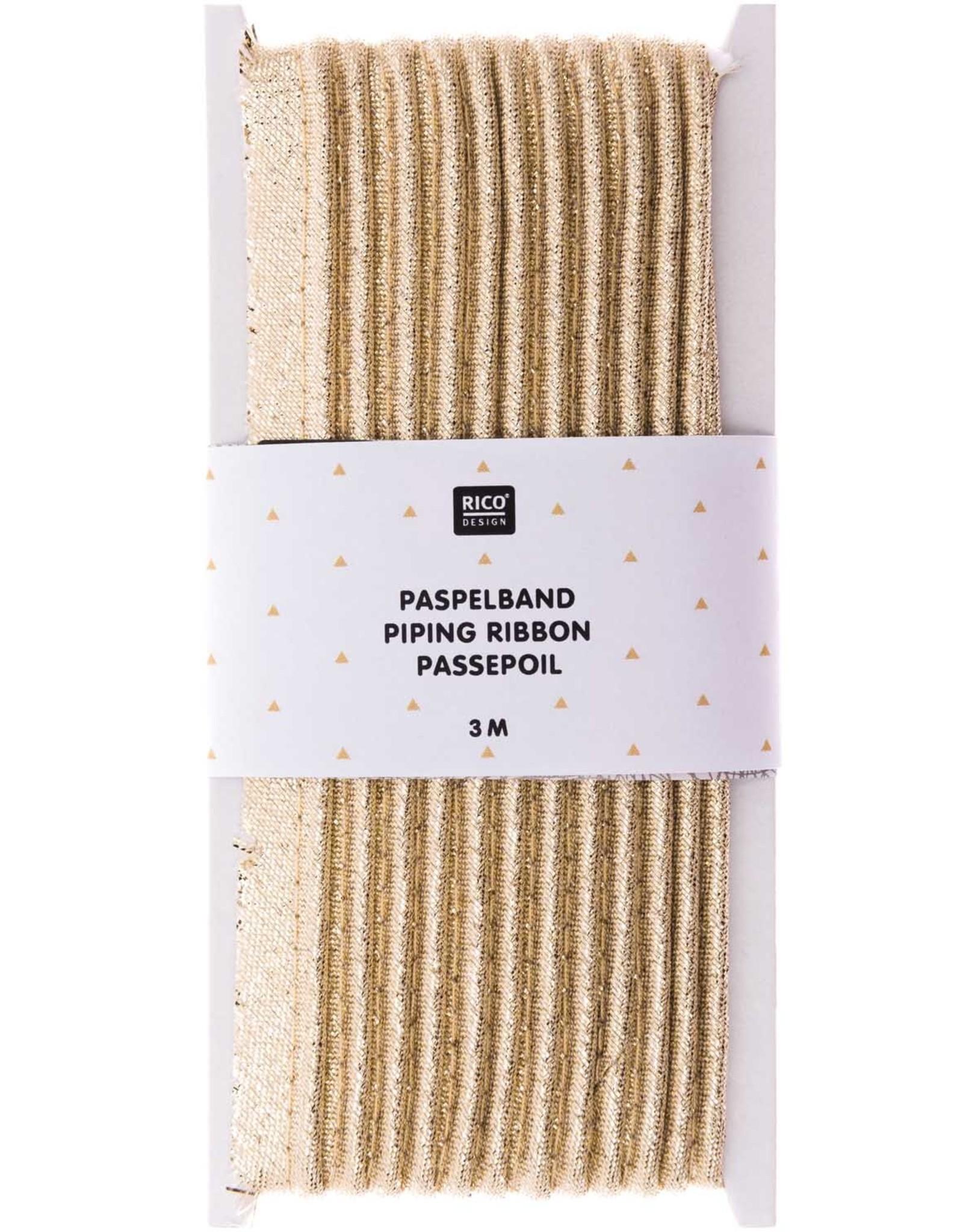 Rico Design Paspelband gold 3m