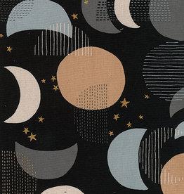 kokka Moon and golden stars