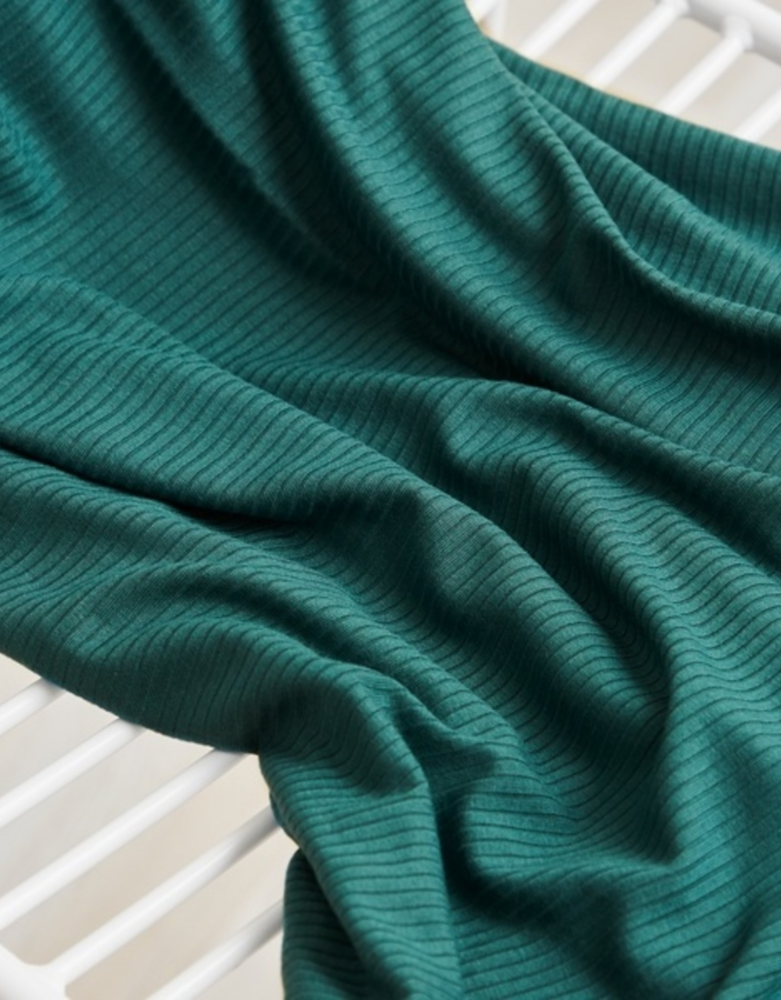 Meet Milk Derby ribbed jersey emerald