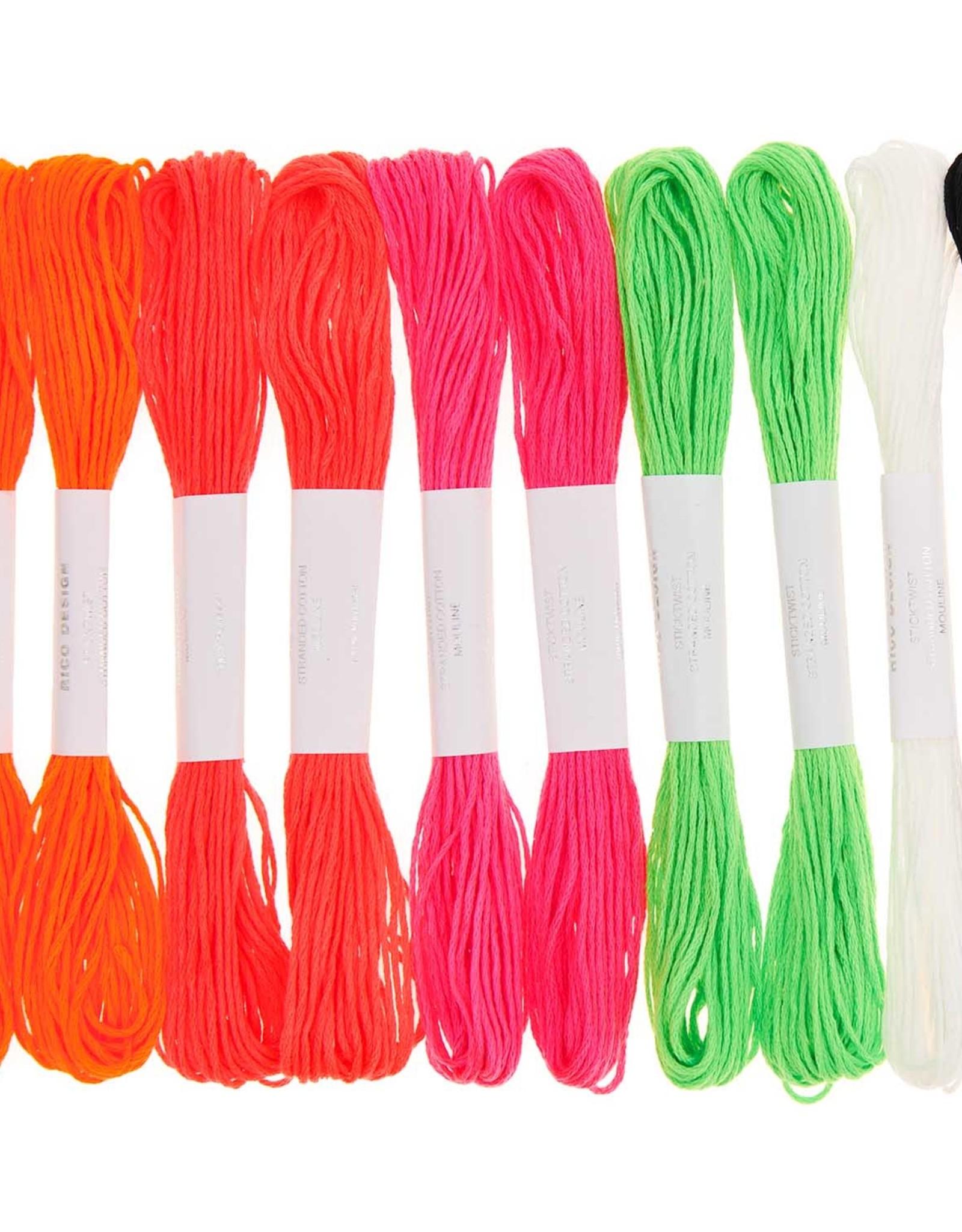 Rico Design Borduurgaren neon 10 stuks