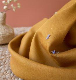 Atelier Brunette Linen ochre fabric