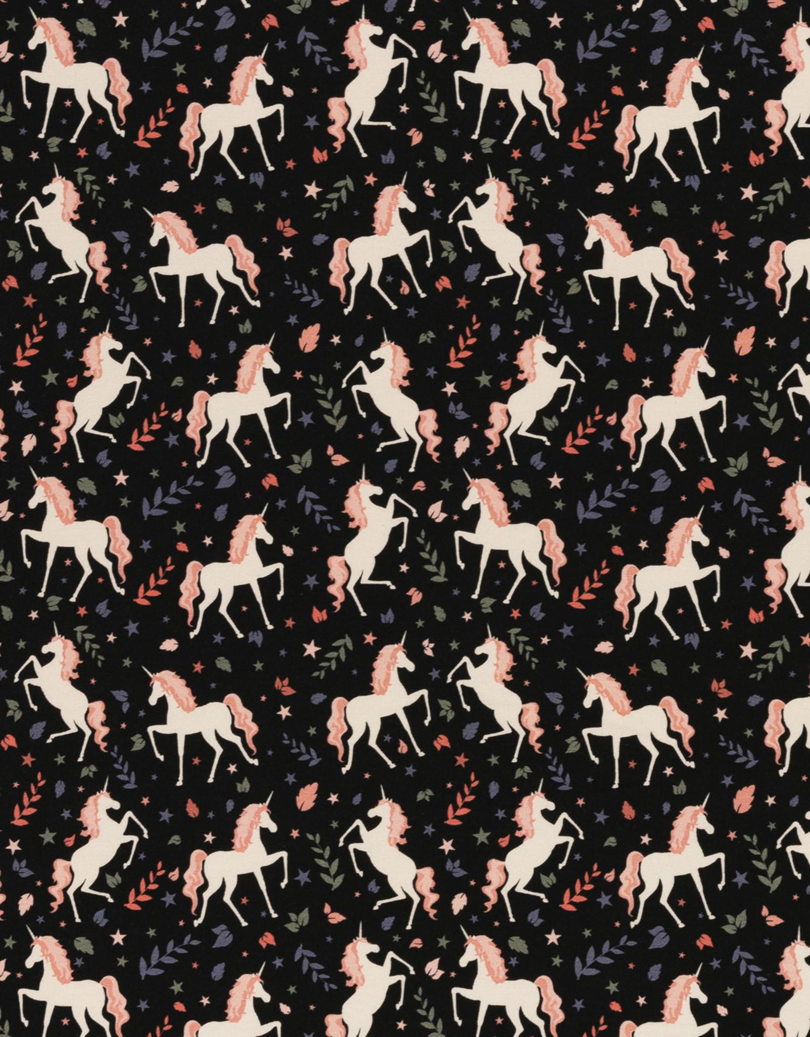 Unicorns donkerblauw