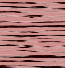 GOTS soft sweat stripes blush