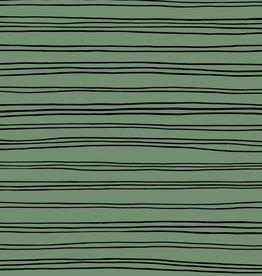 GOTS soft sweat stripes old green
