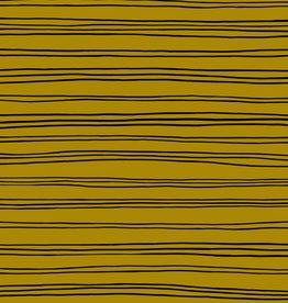 GOTS soft sweat stripes mustard