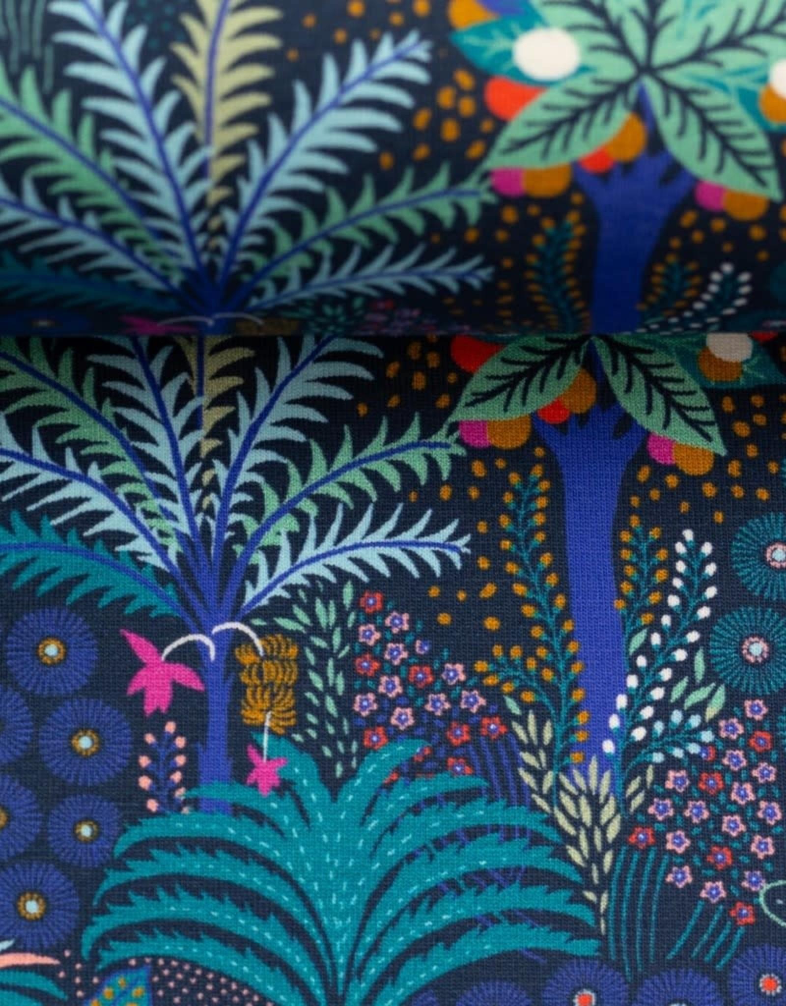 Tropical flowers blauw