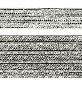 Mediac Elastiek gestreept zilver 50mm