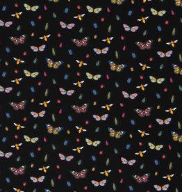 Butterflies tricot black