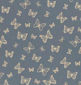 Tetra vlinders jeansblauw