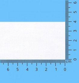 Keprband katoen 40mm wit