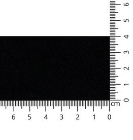 Keperband katoen 40mm zwart