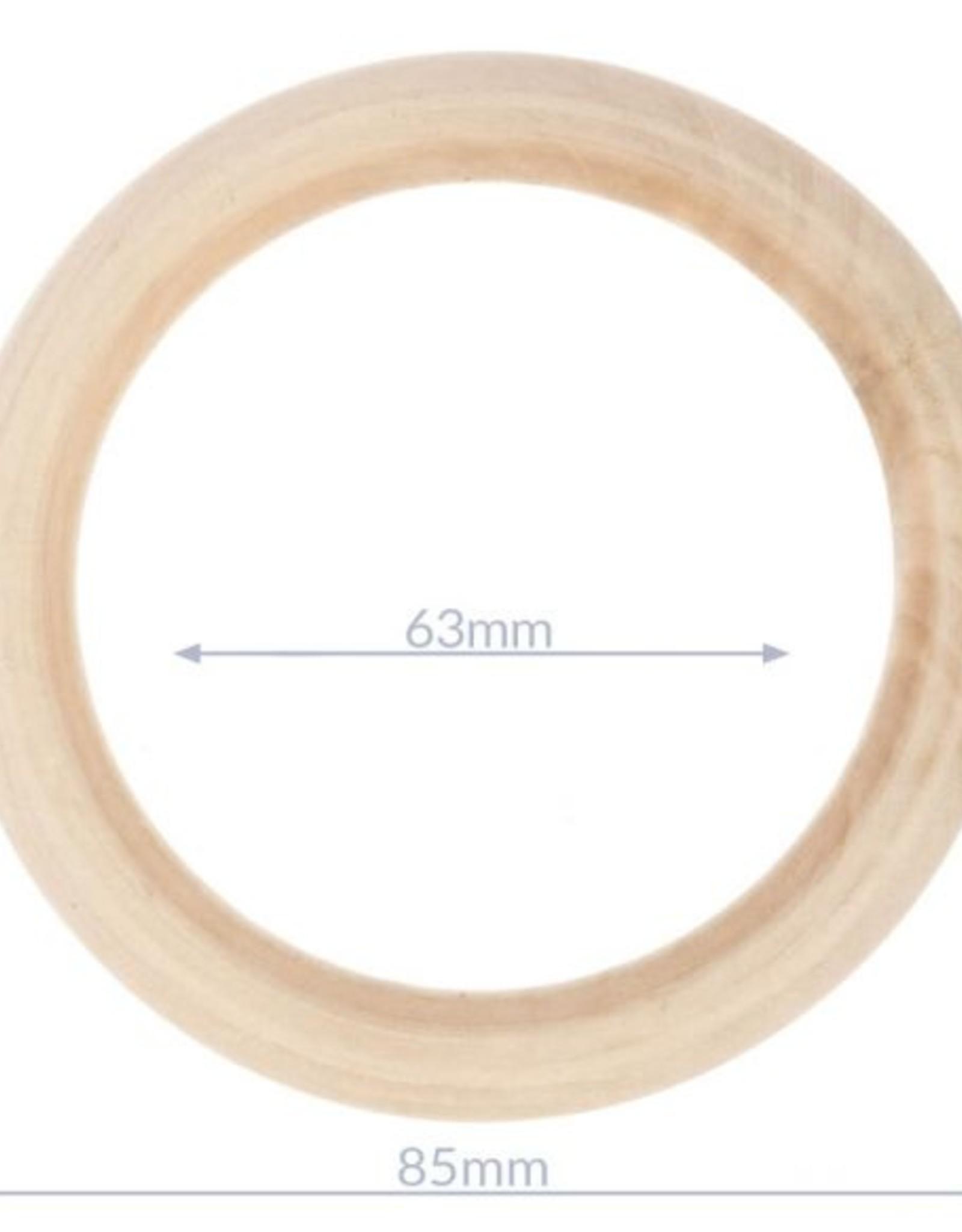 Houten ringen 8,5 cm