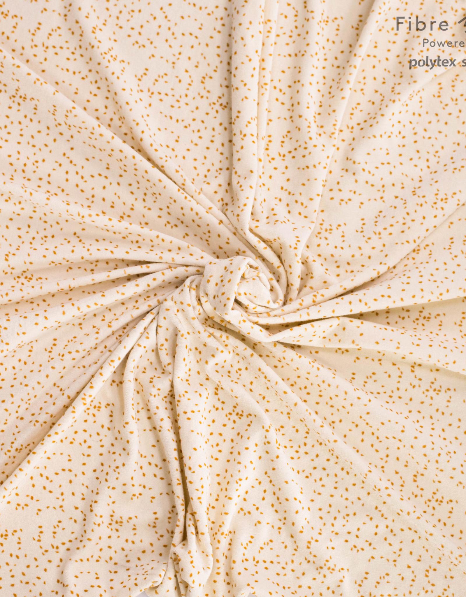 Fibre Mood FM Lou towel beige orange leaves