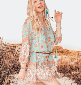 Bohélie fabrics Bohemian summer turquoise