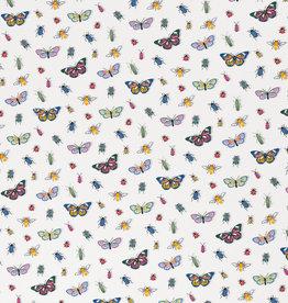 Vintage botanical butterfly