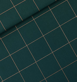 SYAS Thin grid cotton canvas gabardine