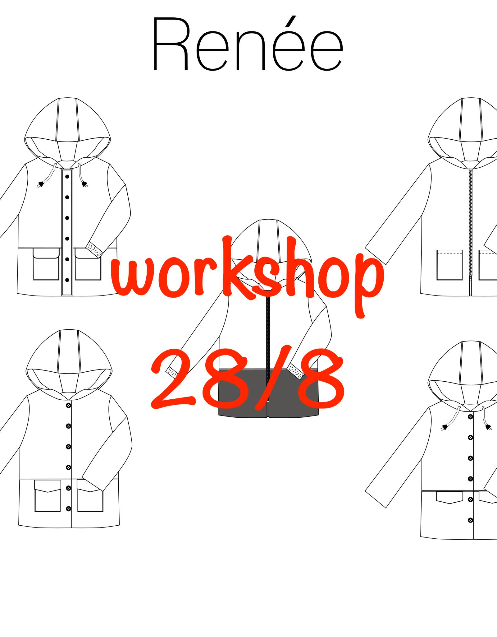 Workshop Renée jas zaterdag 28/08