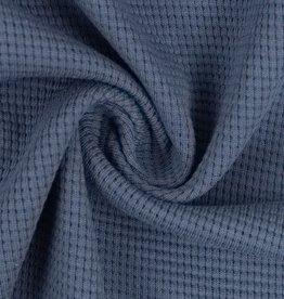 Wafel jersey denim blue