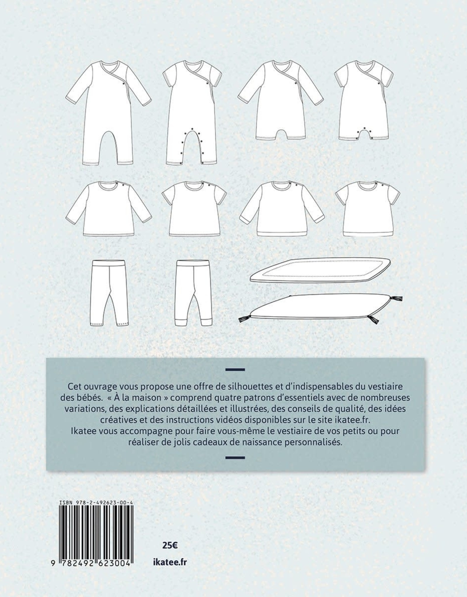 Ikatee Sewing patterns book for babies 'At home'