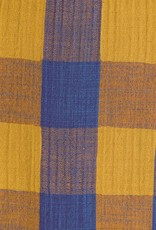 Katia Mousseline Vichy Mimosa & Lapis blue