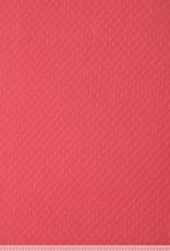 Quilted sweat shirt diamond rumba red