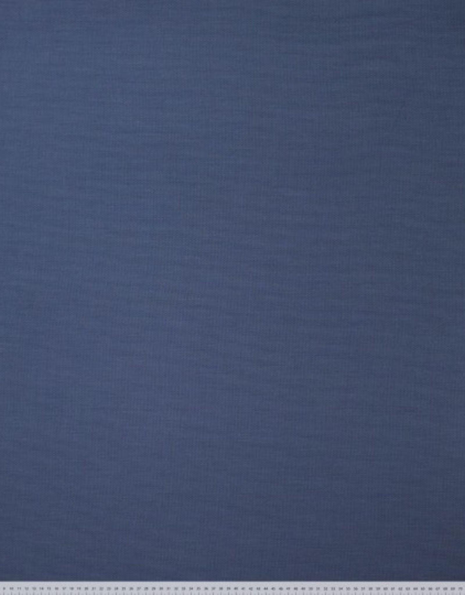 Polyesterviscose klassiek donkerblauw