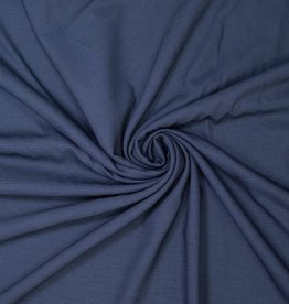 Polyesterviscose klassiek blauw