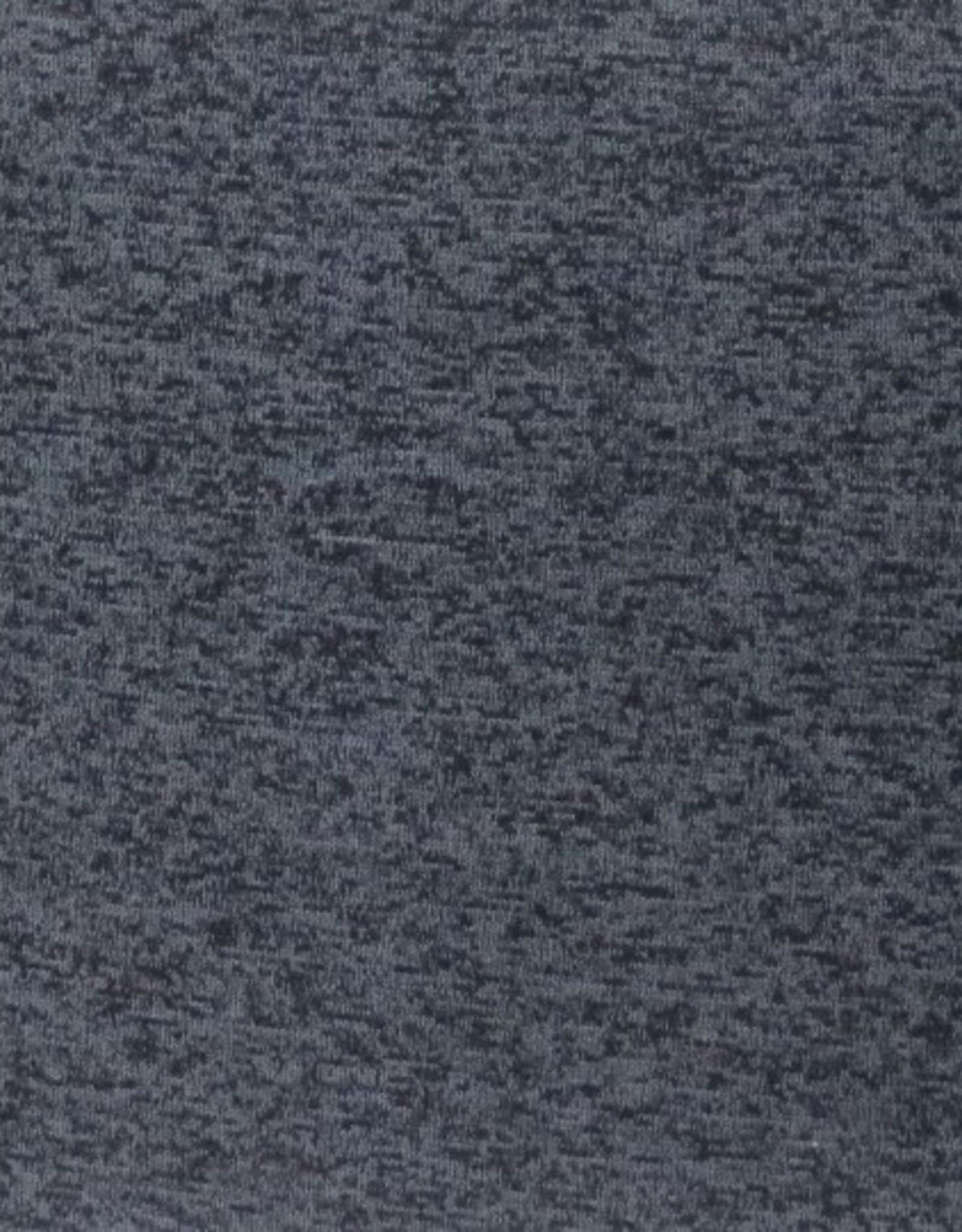 Gebreide Japanse melange met fleece grijs