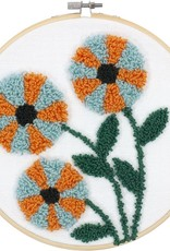 Punch needle modern floral