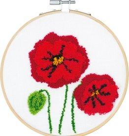 Punch needle kit Poppies