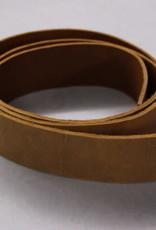 Lederen riem natural velvet  2.5cm x ca. 120 cm