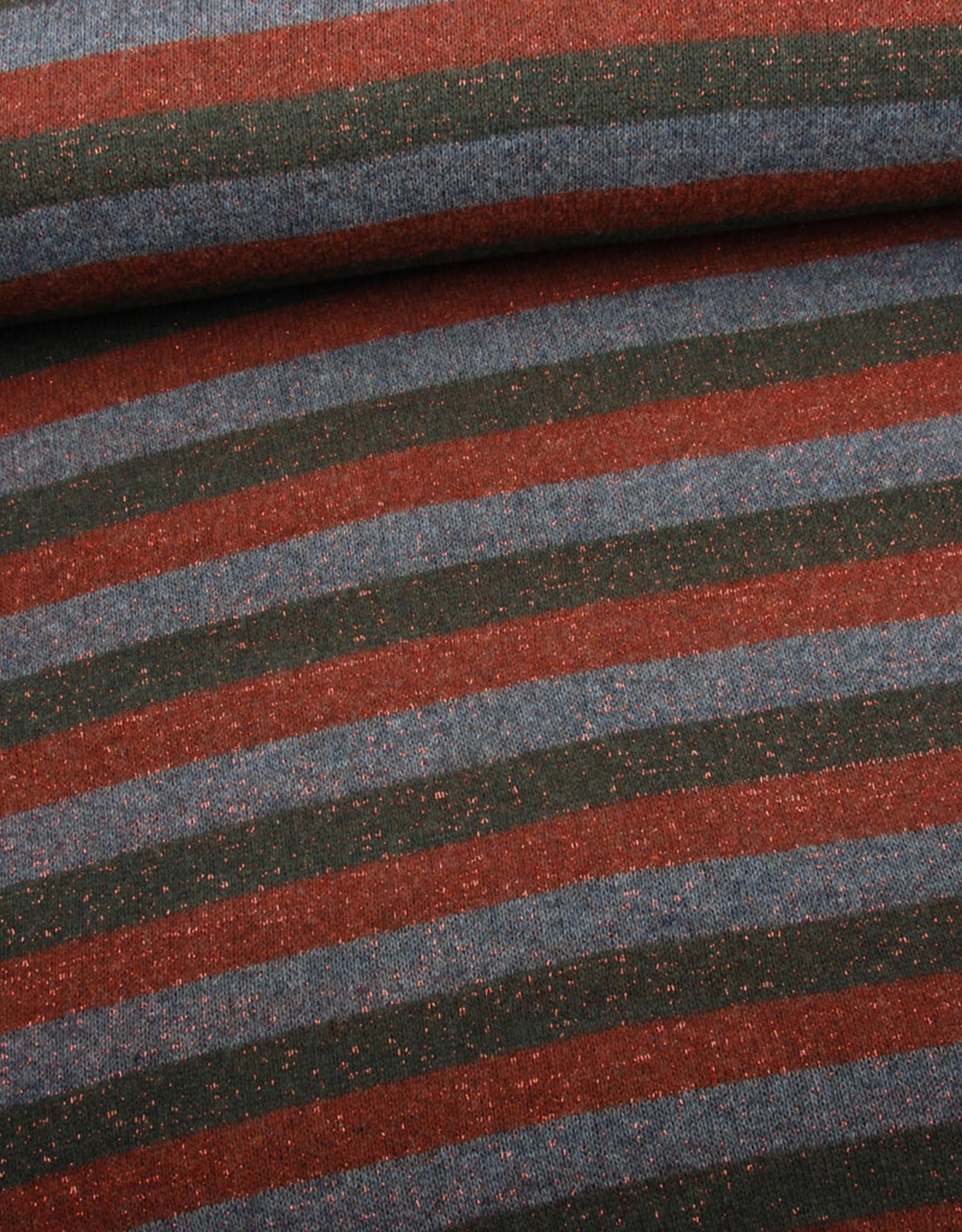 Lurex stripes bordeaux