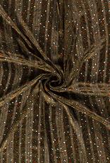 Chiffon lurex dierenprint
