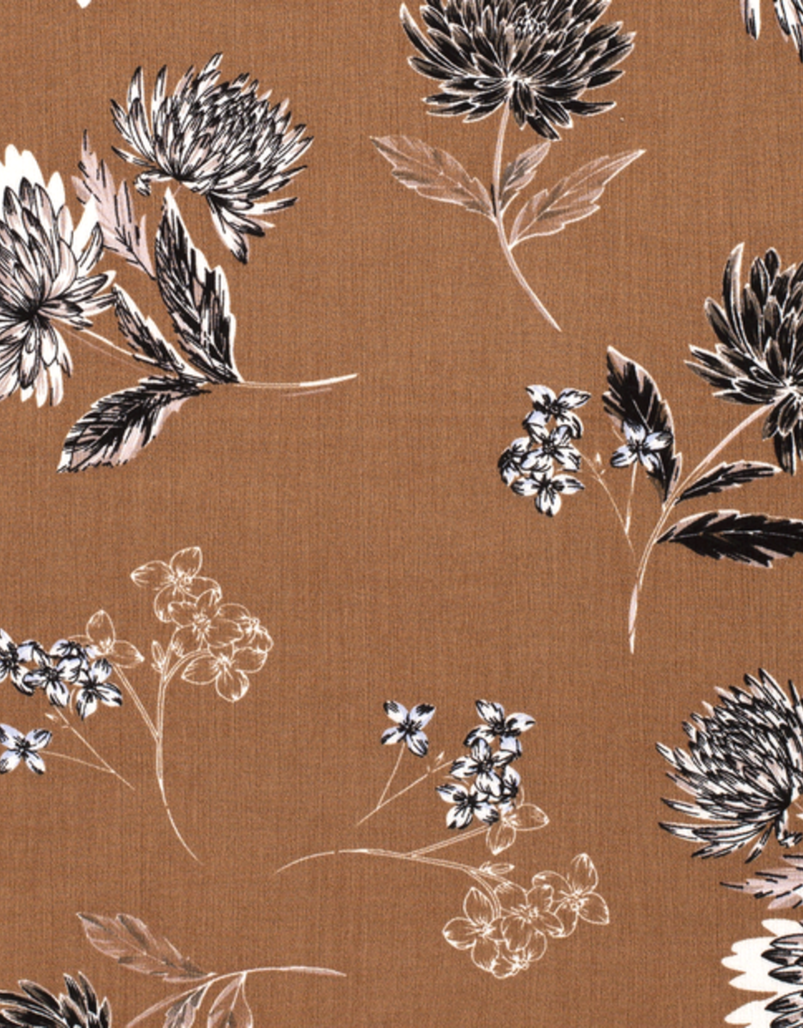 Crepe bloemen bruin