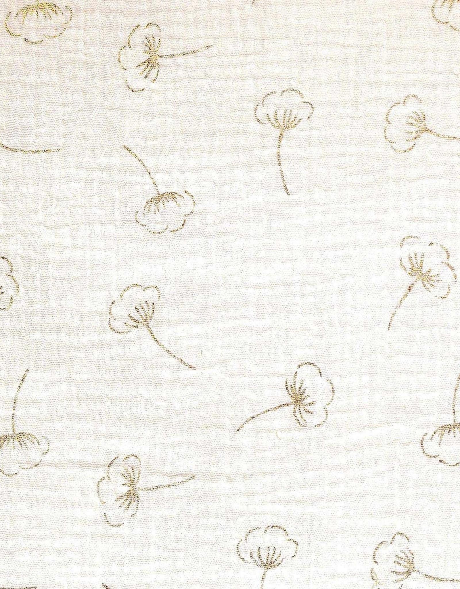 Katia Mousseline gold cotton flower