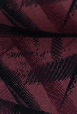 Jogging brushed abstract bordeaux