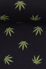 Hemp leaves small green black