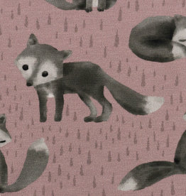 Foxes donkergrijs/rose